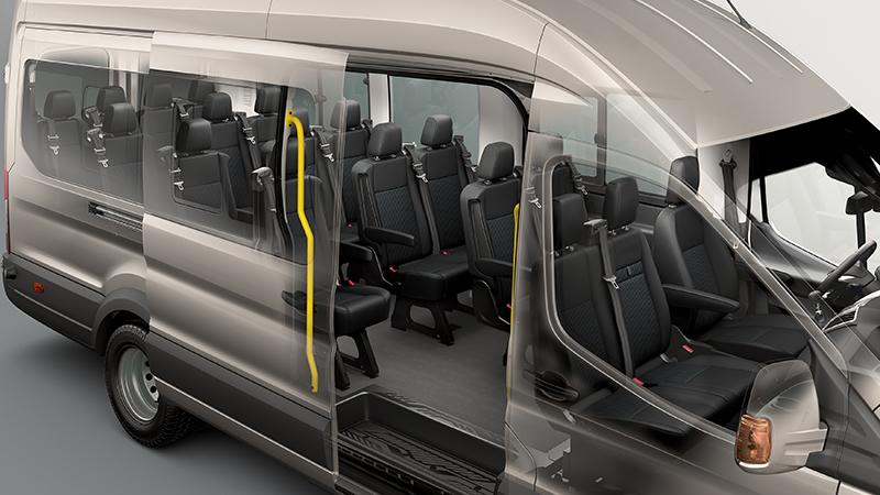18-seat Bus interior
